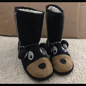 Lazy Ones ugg style Bear face boots SO CUTE